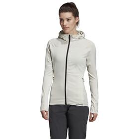 adidas TERREX Tracero Hupullinen Fleece-takki Naiset, raw white